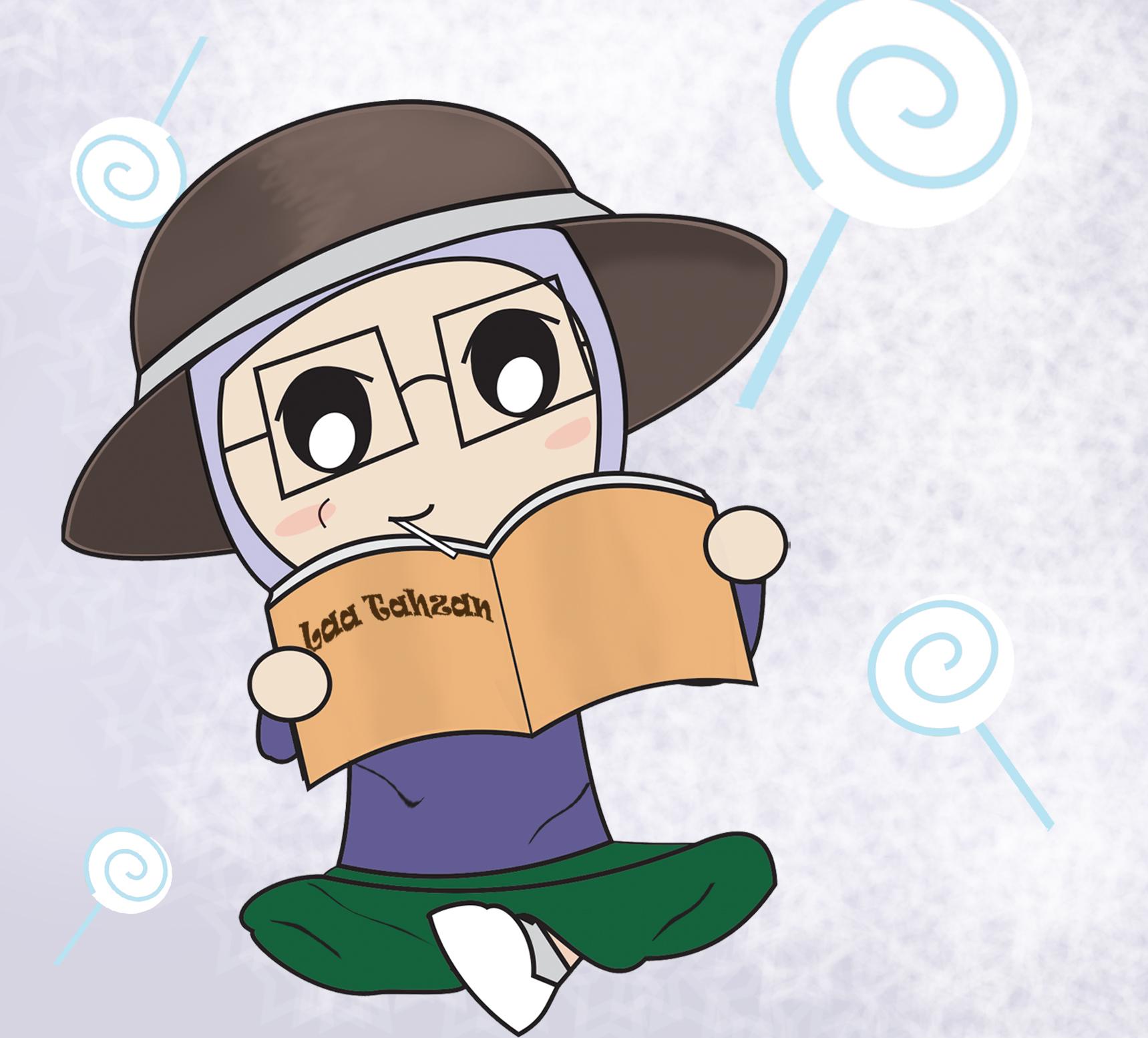 Koleksi Gambar Animasi Kartun Membaca Buku