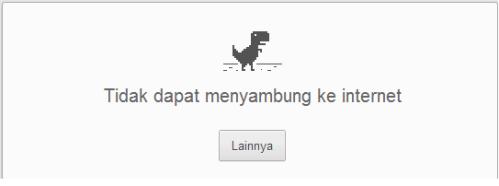 Chrome tidak dapat terhubung  internet