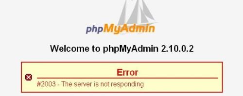 server is not responding