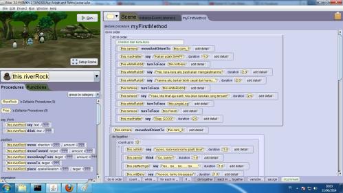 Tampilan secara prosedur/kode