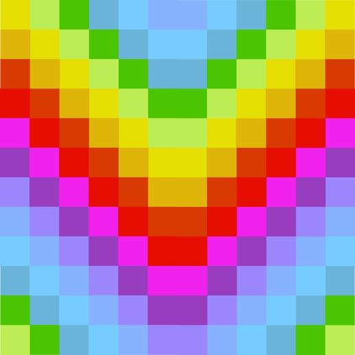 warna simetris